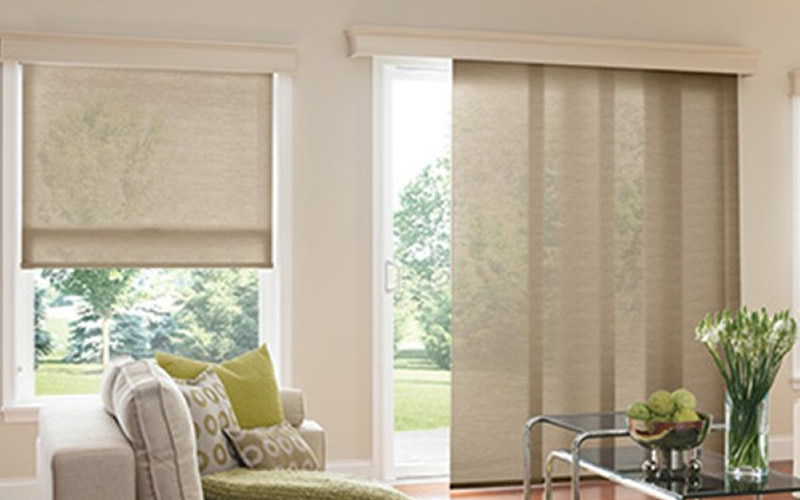Sliding Panel Track Shades Indiana Blinds